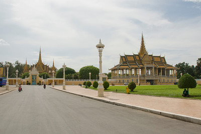 Beautiful shot of grounds near Royal Palace in Phnom Penh, Cambodia