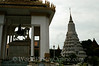 Phnom Penh - Silver Pagoda - Statue and Stupa of King Norodom