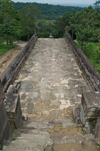 Looking down the front stairway of Preah Vihear Temple