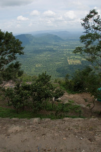 View of the forest from the Preah Vihear Temple