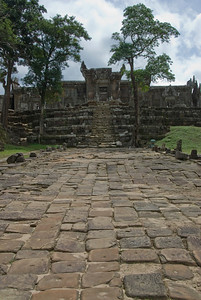 Path and steps leading to the Rear Ruins in Preah Vihear Temple