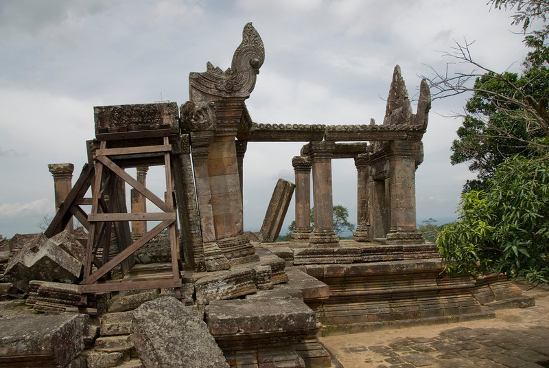 Old structure in Front Ruins of Preah Vihear Temple