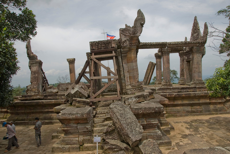 Dilapidated structure at the front ruins of Preah Vihear Temple