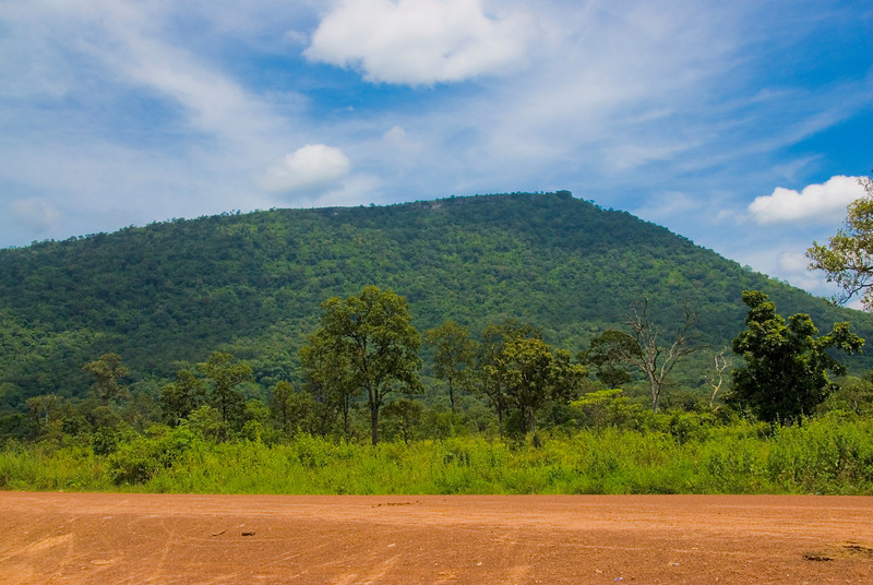 Shot of the mountain overlooking from the Preah Vihear Temple