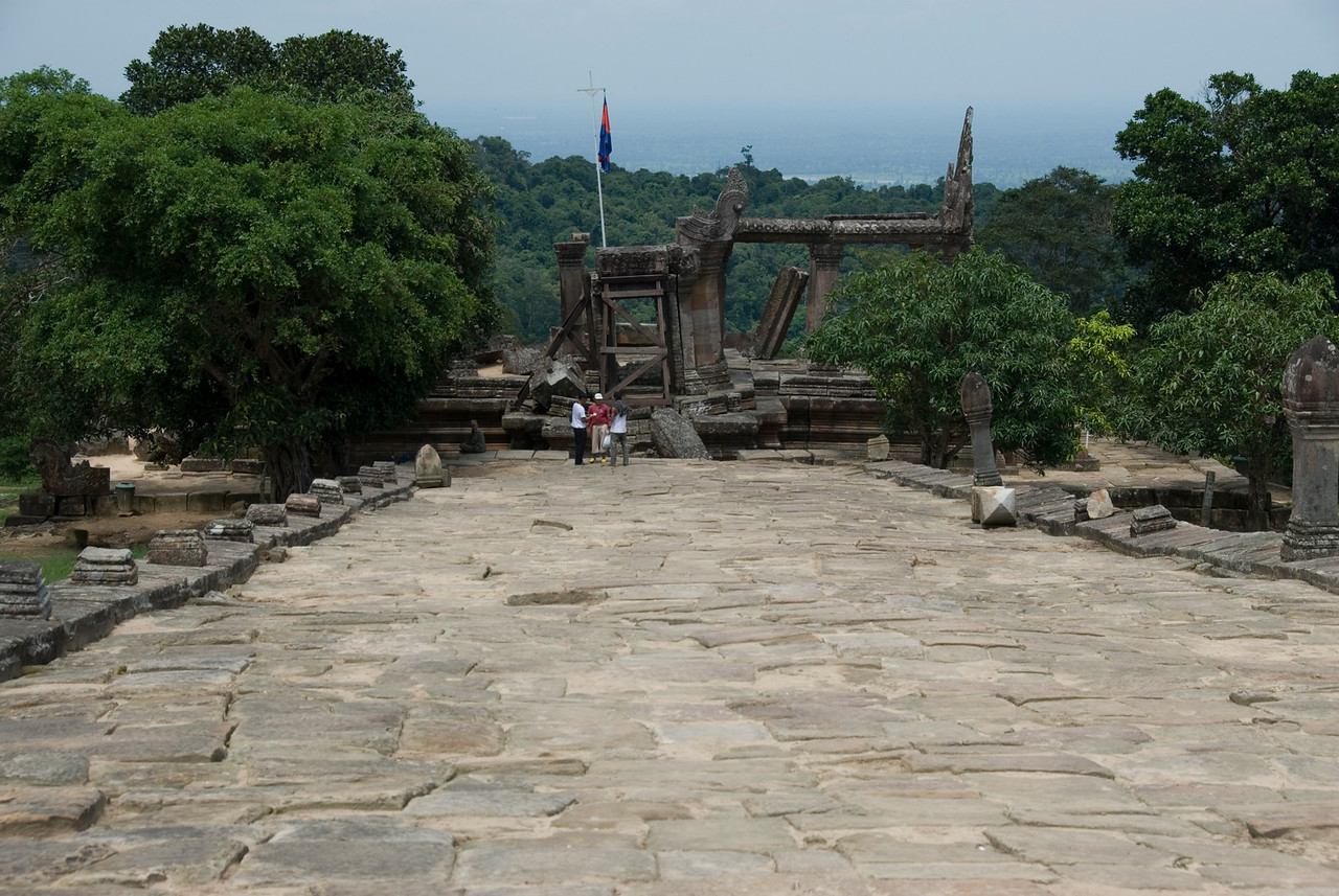 Wide path at the front ruins of Preah Vihear Temple