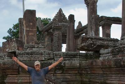 Portrait inside the ruins of Preah Vihear Temple