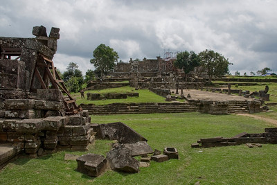 Landscape view of the rear ruins in Preah Vihear Temple