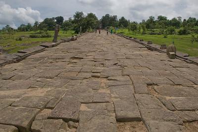 Stone path inside the Preah Vihear Temple in Cambodia
