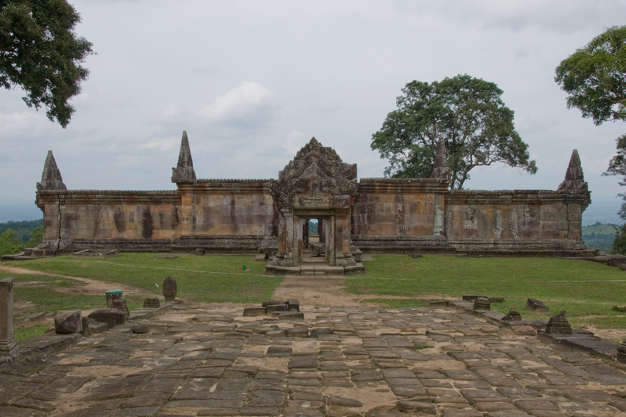 Beautiful landscape at the Rear Ruins in Preah Vihear Temple