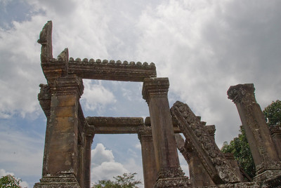The front ruins of Preah Vihear Temple