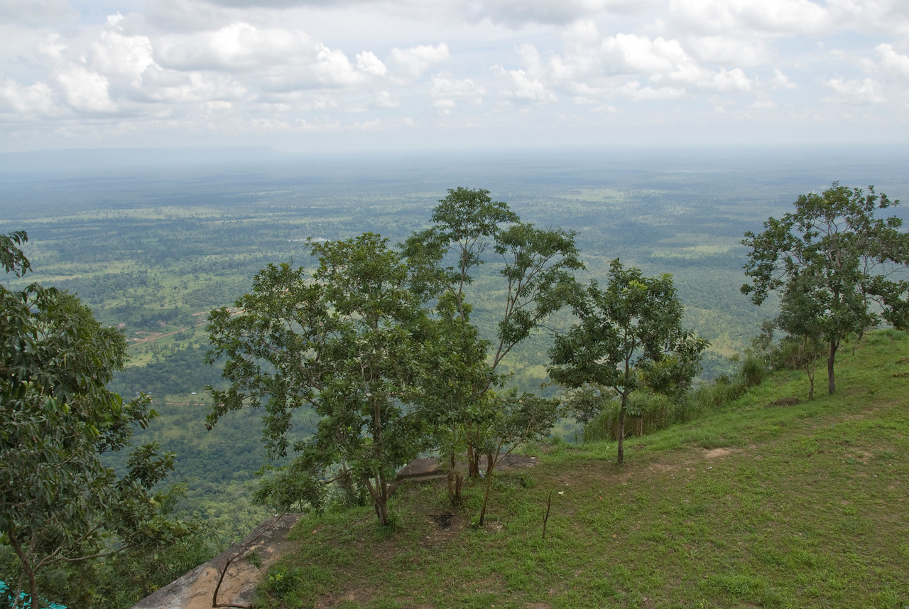 Overlooking view of Cambodia from the Preah Vihear Temple