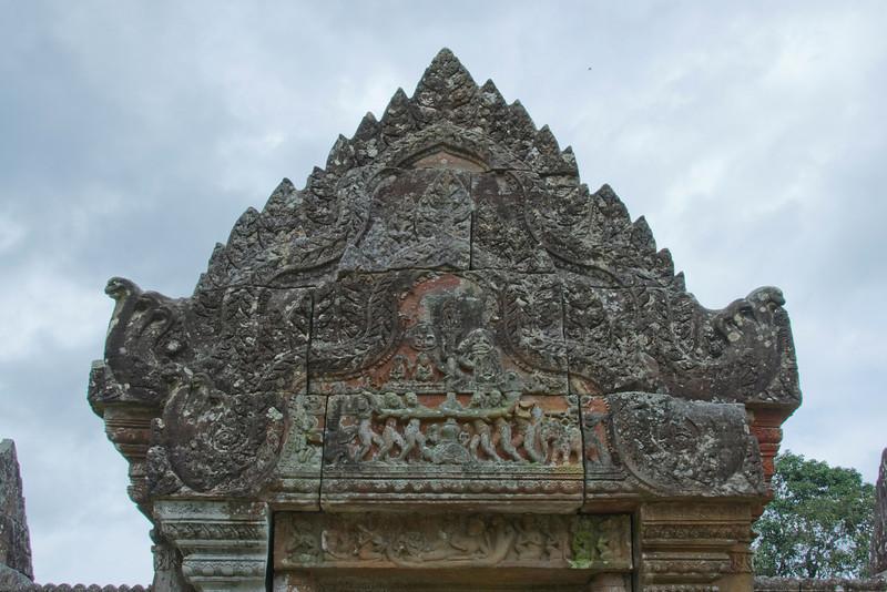 Details of stone work in Preah Vihear Temple