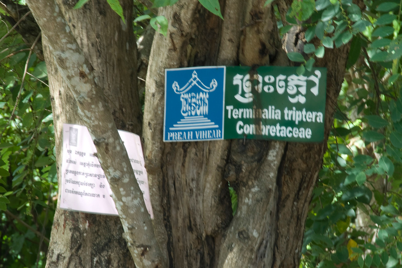 Signs showing direction to Preah Vihear Temple