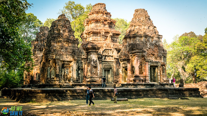 Six towers at Preah Ko Temple. Put Roluos group on your itinerary for Siem Reap, it's rarely crowded.