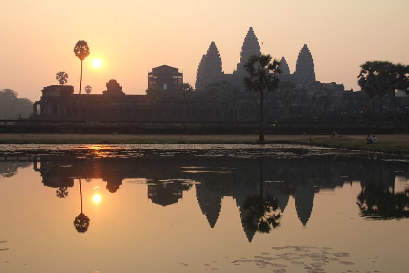 Angkor Wat at sunrise - Siem Reap - Intrepid Travel Cambodia - Review: Cambodian Traveler