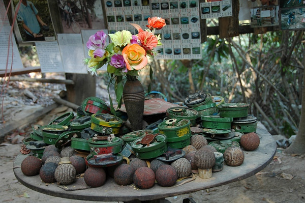 Plastic Flowers and Mines - Siem Reap, Cambodia