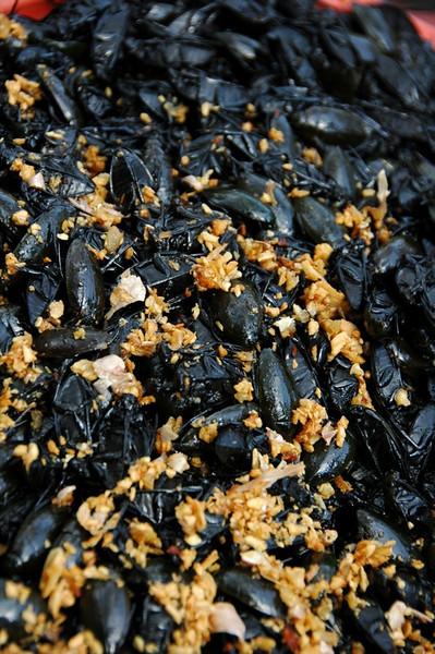 Beetles and Fried Garlic - Siem Reap, Cambodia