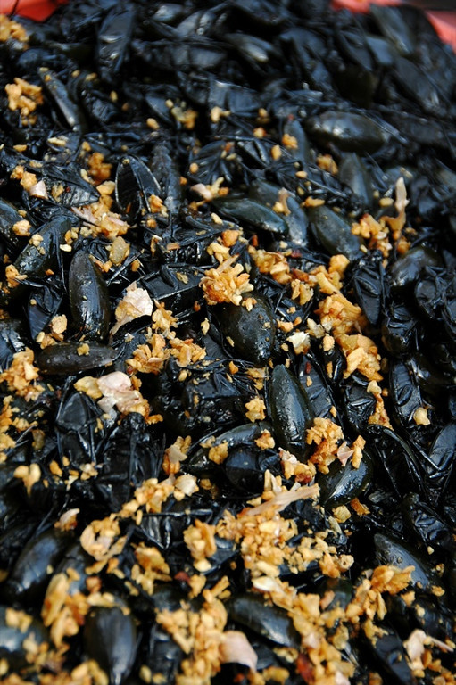 Beetles and Fried Garlic - Siem Reap, Cambodia
