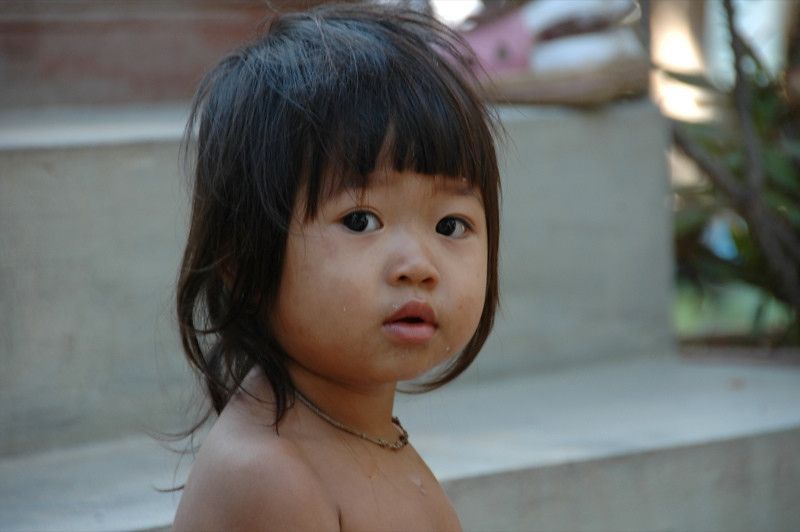 Surprised Girl - Siem Reap, Cambodia