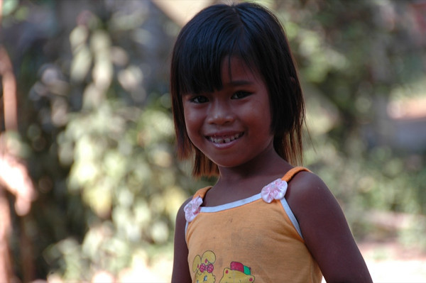 Smiling Girl - Siem Reap, Cambodia