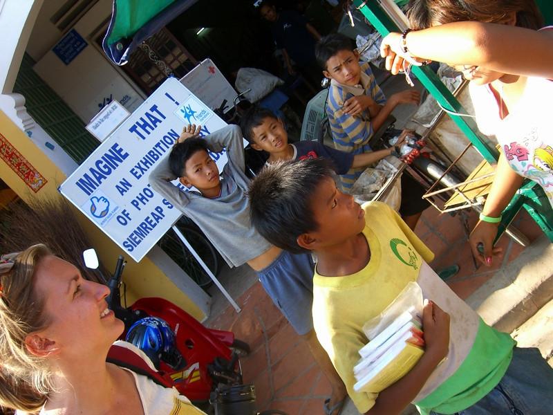 Exhibition of Street Kids' Photographs - Siem Reap, Cambodia
