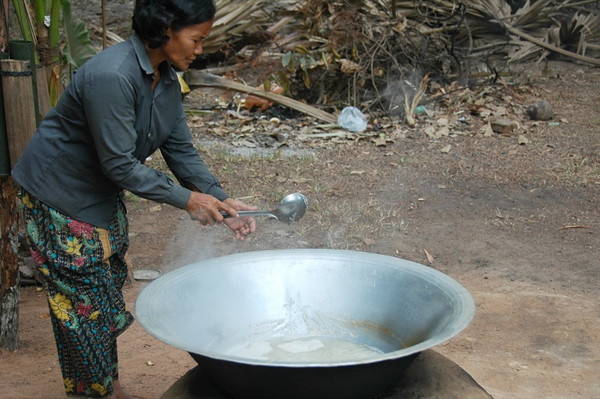 Woman Making Palm Sugar - Siem Reap, Cambodia