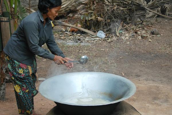 Woman Making Palm Sugar - Siem Reap, Cambodia