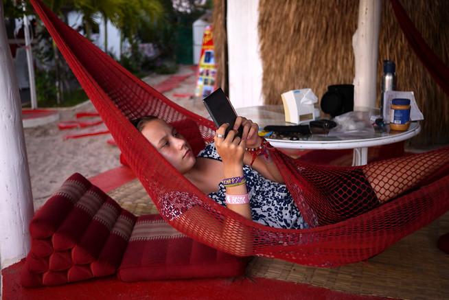 reading in hammock