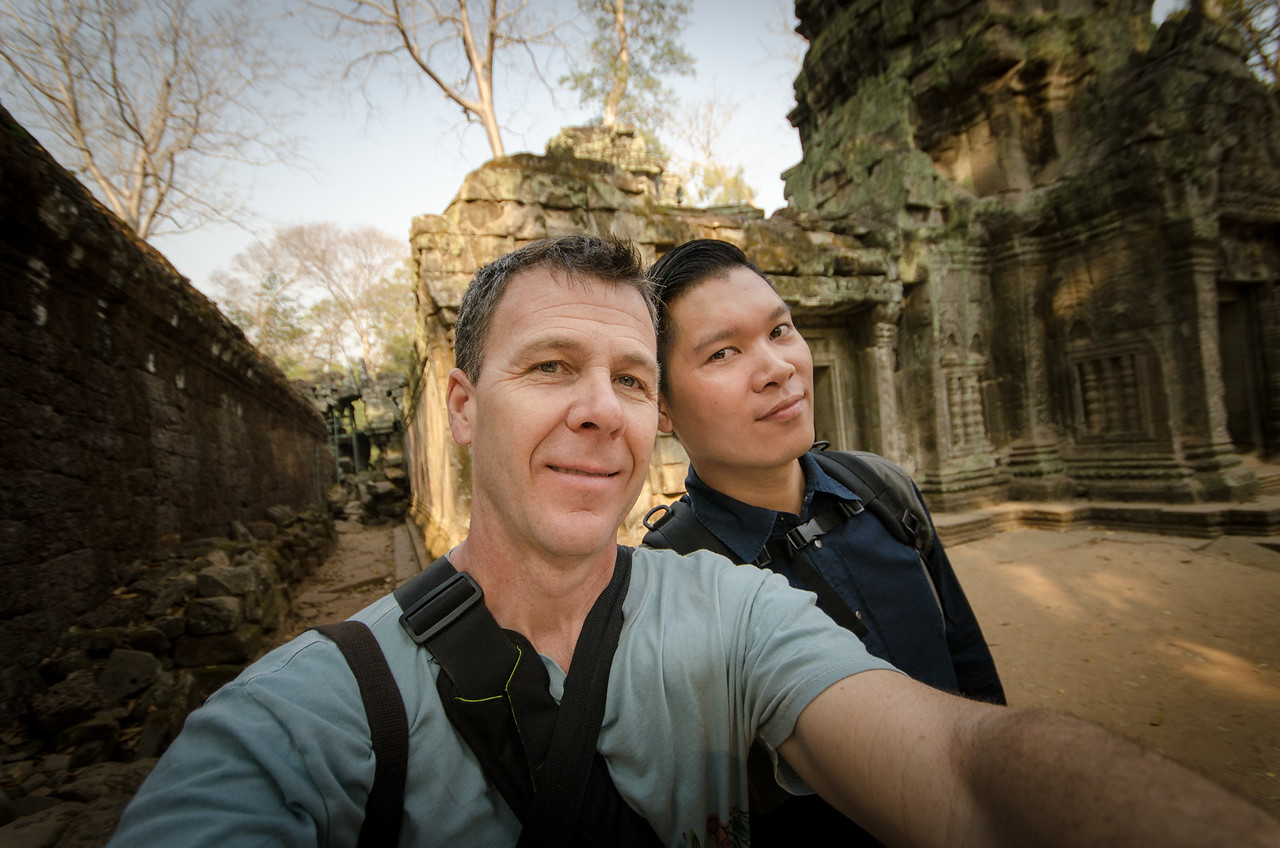 A quick selfie at Ta Prohm.
