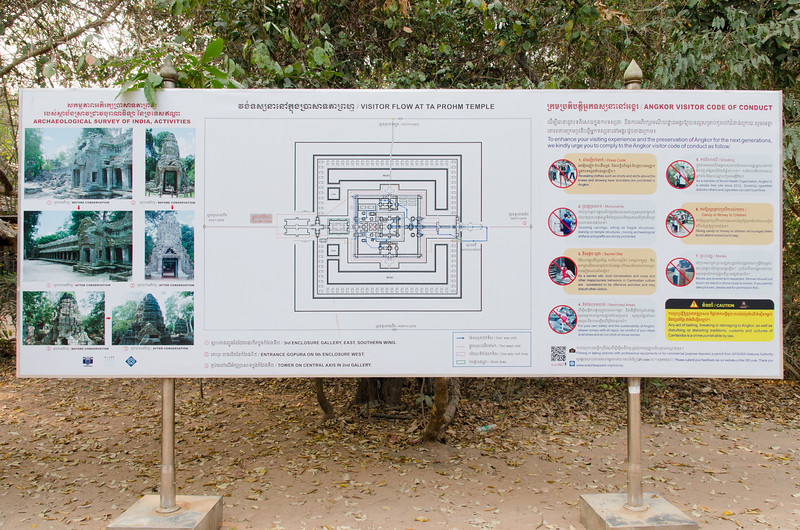 The map and the rules for Ta Prohm.