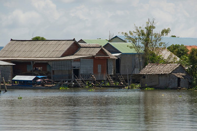 Glimpse of the water village in Tonle Sap, Cambodia