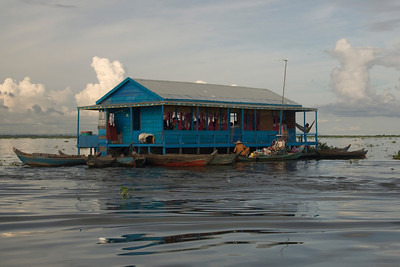 The colorful floating Vietnamese school in Tonle Sap