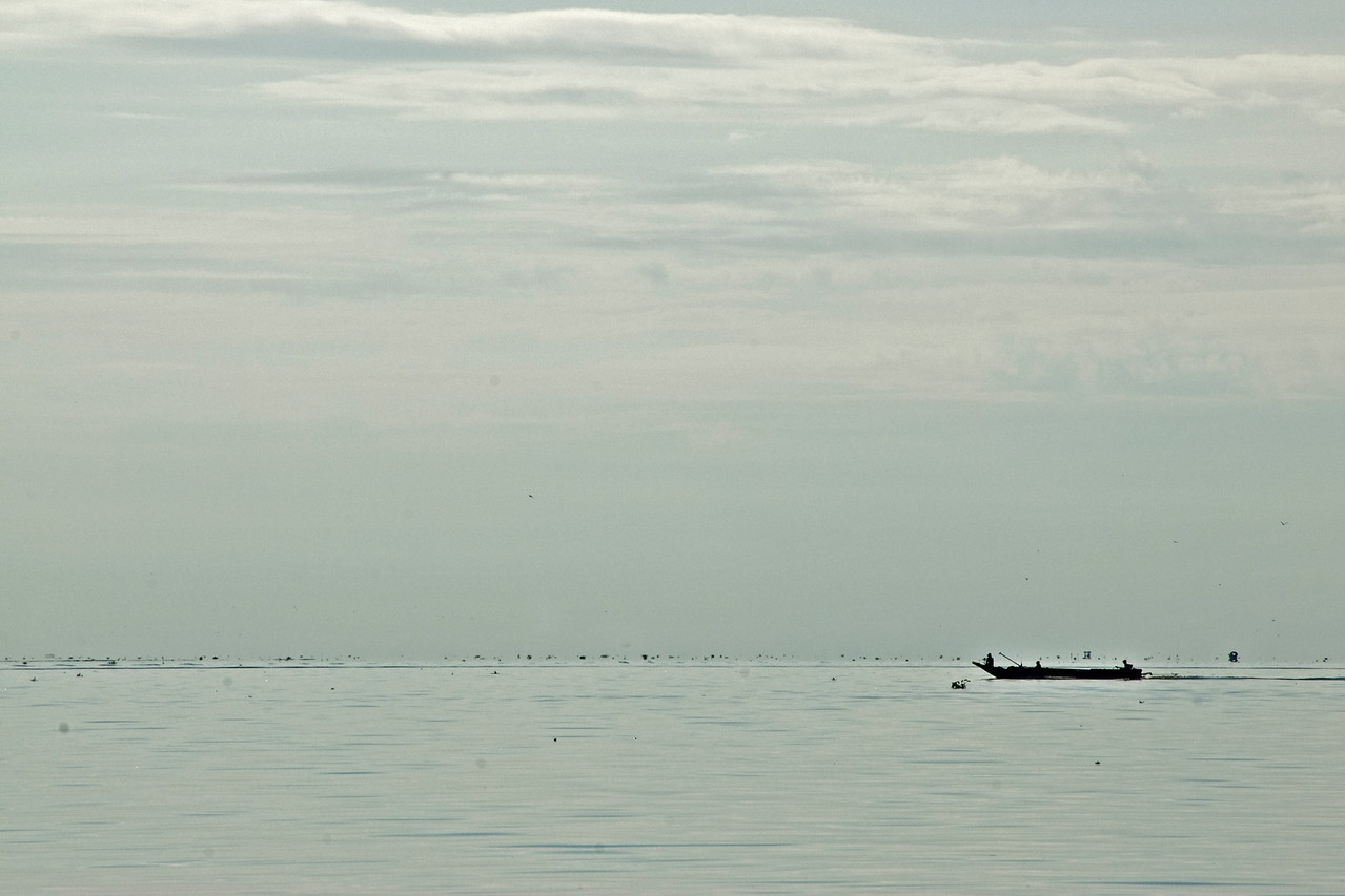 Where the sea and sky meet at Tonle Sap, Cambodia