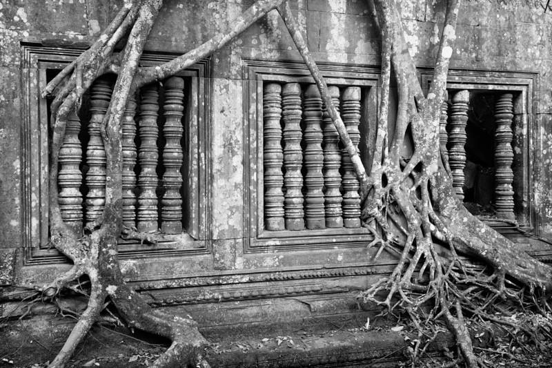 Overgrown window in Beng Melea