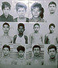 Prisoners about to be executed from display at  Tuoi Sleng museum formerly the Khmer Rouge's torture chamber and prison