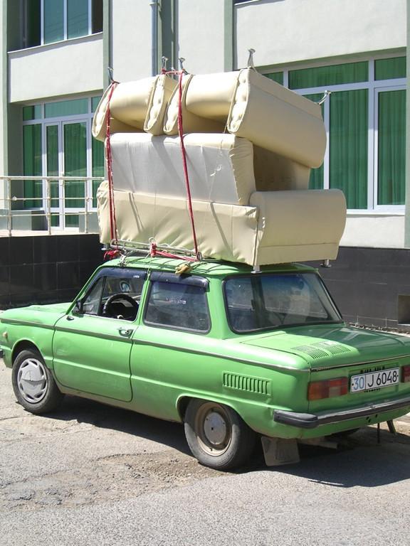Soviet Car with Heavy Load - Tashkent, Uzbekistan