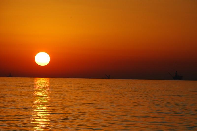 Beautiful Sunset on Caspian Sea - Azerbaijan, Turkmenistan