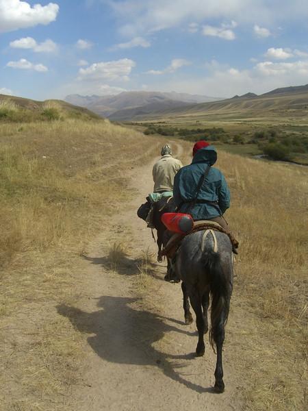 Riding Horses to Song Kul Lake - Kyrgyzstan