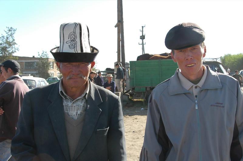 Karakol Animal Market, Kyrgyz Men - Kyrgyzstan
