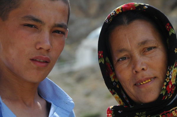 Son and his Mother - Paraw Bibi, Turkmenistan
