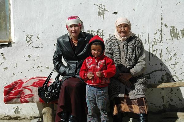 Kyrgyz Family at Tajik Border