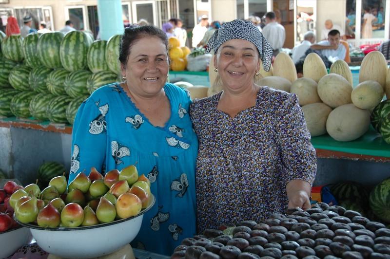 Figs and Melons at the Market - Bukhara, Uzbekistan