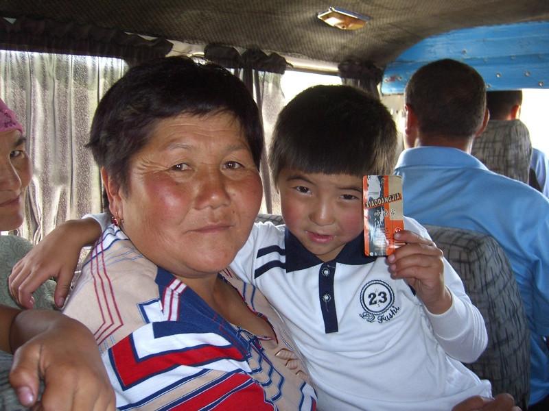 Bus Companions - Karakol, Kyrgyzstan