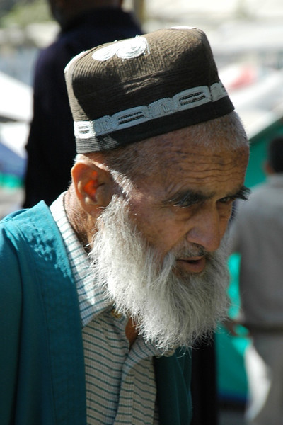 Old Tajik Vendor at Varzob Bazaar - Dushanbe, Tajikistan