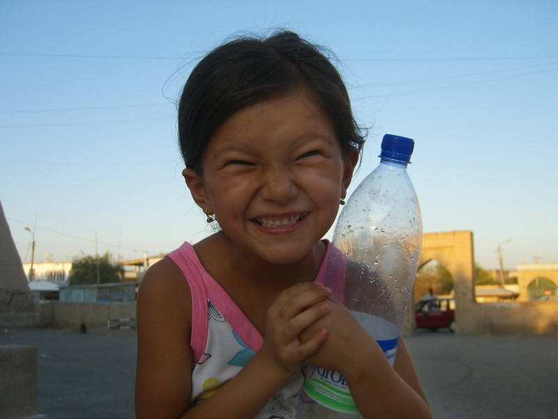 Excited Little Girl - Khiva, Uzbekistan