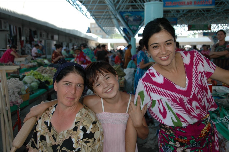 Friendly Women at the Krytyy Market - Bukhara, Uzbekistan