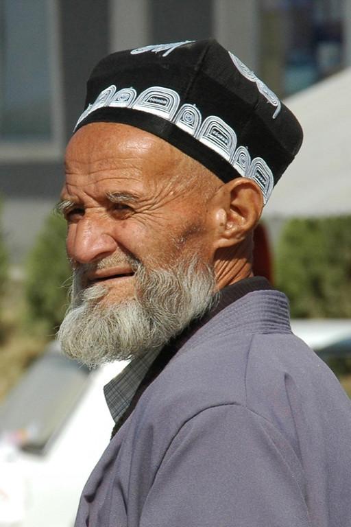 Old Tajik Man with Hat - Dushanbe, Tajikistan