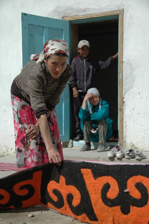 Kyrgyz Woman and her Shyrdak - Murghab, Tajikistan
