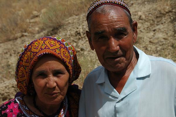 Elderly Couple - Qys Bibi, Turkmenistan