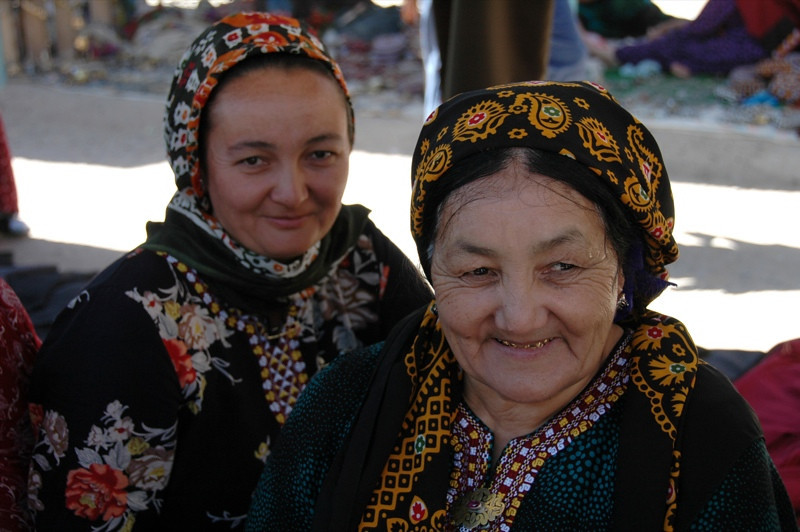 Mother and Daughter Jewelry Vendors - Ashgabat, Turkmenistan
